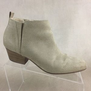 Old Navy Ankle Boots Women's 8 Vegan Suede Booties